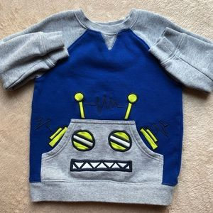 EUC Gymboree Robot Sweatshirt 3T
